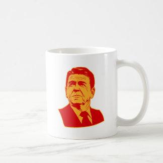 Ronald Reagan 1980 retro portrait Classic White Coffee Mug