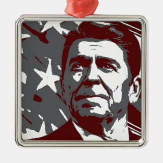 Ronald Reagan 40th President of the USA Metal Ornament