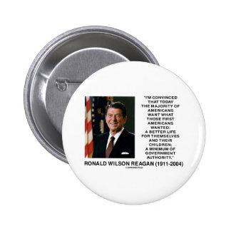 Ronald Reagan Americans Want Minimum Gov't Authrty Pinback Buttons