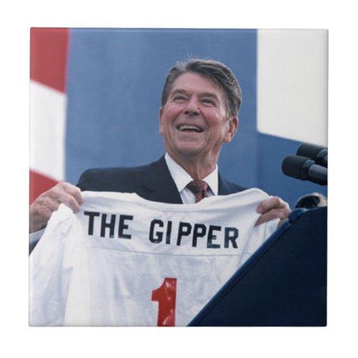 Ronald Reagan Azulejo Cuadrado Pequeño