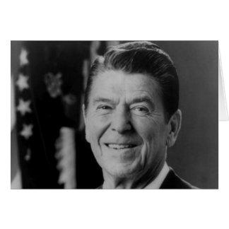Ronald Reagan B W Portrait Greeting Card