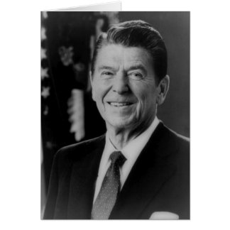Ronald Reagan B W Portrait Greeting Cards
