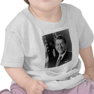 Ronald Reagan B W Portrait Tee Shirt