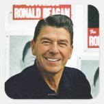 Ronald Reagan Calcomanías Cuadradas