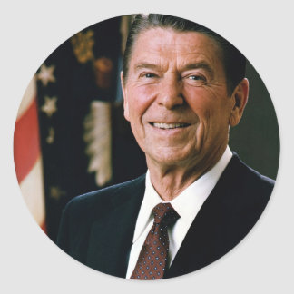 Ronald Reagan Classic Round Sticker