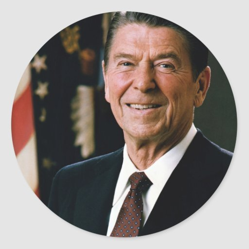 Ronald Reagan Classic Round Sticker