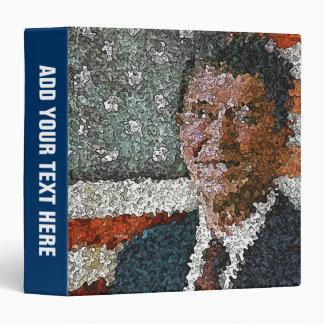 Ronald Reagan con la bandera