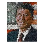 Ronald Reagan con la bandera Tarjeta Postal