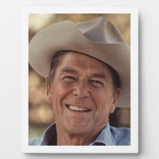 Ronald Reagan Cowboy Plaque
