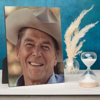 Ronald Reagan Cowboy Retro 80s Plaque