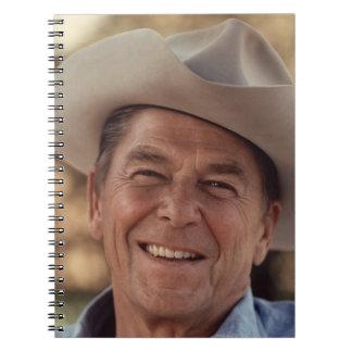 Ronald Reagan Cowboy Retro 80s Spiral Notebook