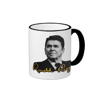 Ronald Reagan de oro Taza De Café