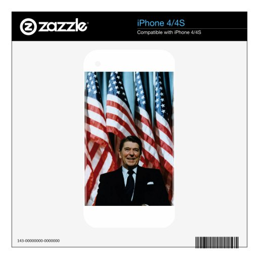 ronald reagan decal for iPhone 4