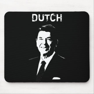 Ronald Reagan -- Dutch -- Black and White Mouse Pad