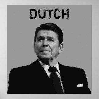 Ronald Reagan -- Dutch Poster