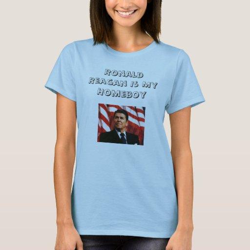 Ronald Reagan es mi Homeboy Playera