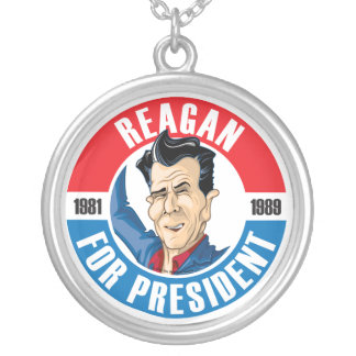 Ronald Reagan For President Necklace