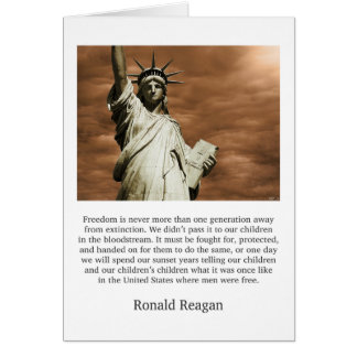 Ronald Reagan Freedom Quote Card