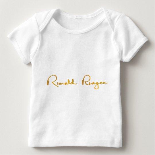 Ronald Reagan Gold Signature Baby T-Shirt