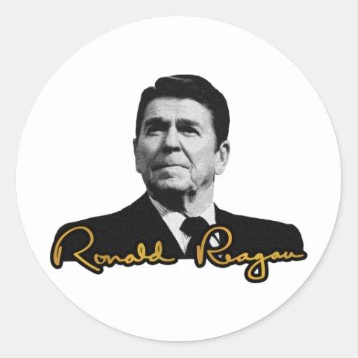 Ronald Reagan Golden Classic Round Sticker