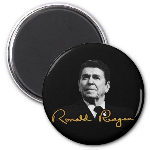 Ronald Reagan Golden Fridge Magnets