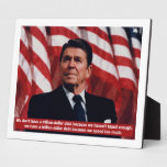 Ronald Reagan Government Spending Display Plaque