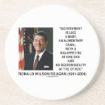 Ronald Reagan Gov't Like A Baby Alimentary Canal Drink Coaster