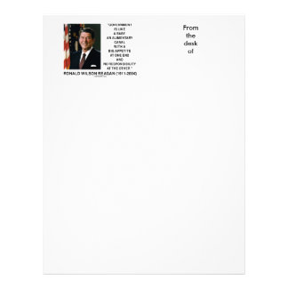 Ronald Reagan Gov't Like A Baby Alimentary Canal Letterhead