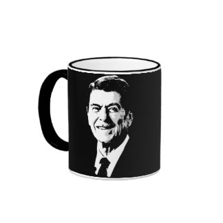 Ronald Reagan hace frente Taza A Dos Colores