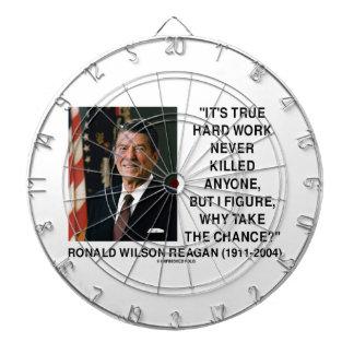 Ronald Reagan Hard Work Why Take The Chance? Dartboards