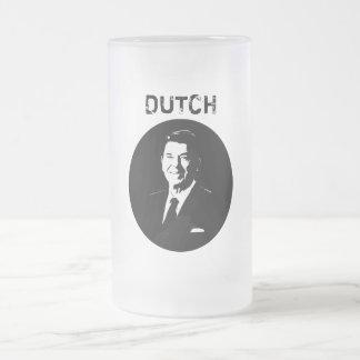 Ronald Reagan -- Holandés -- Blanco y negro Tazas De Café
