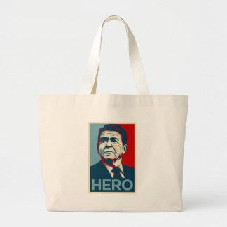 Ronald Reagan Hope Hero Poster - Reagan Bush 84 Canvas Bags