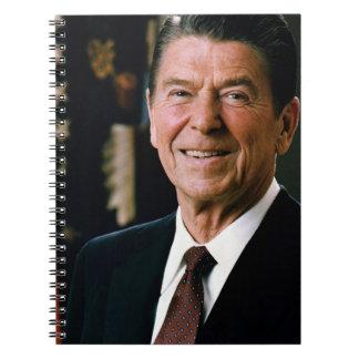 Ronald Reagan Libro De Apuntes Con Espiral