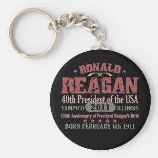 Ronald Reagan Llavero Redondo Tipo Pin