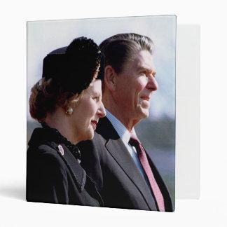 Ronald Reagan & Margaret Thatcher 3 Ring Binder