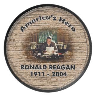 Ronald Reagan Memorial Plate