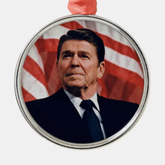 Ronald Reagan Metal Ornament