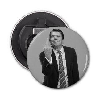 Ronald Reagan Middle Finger Button Bottle Opener
