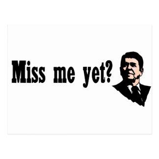 ¿Ronald Reagan - Miss Me todavía? Estilo 2 Tarjetas Postales