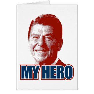 Ronald Reagan My Hero Card
