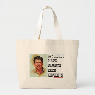 Ronald Reagan - My Heroes Have Always Been Cowboys Canvas Bag
