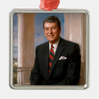 Ronald Reagan Official Portrait Metal Ornament