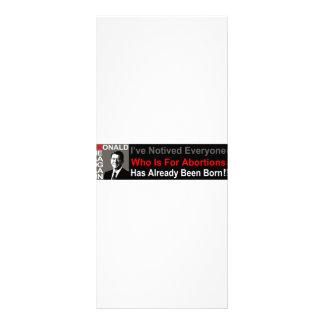 Ronald Reagan on Abortion Rack Card