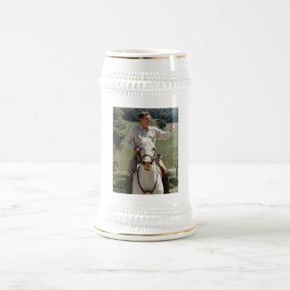 Ronald Reagan On Horseback 18 Oz Beer Stein