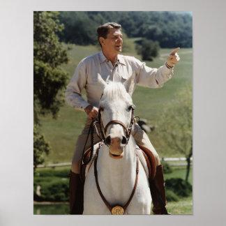 Ronald Reagan On Horseback Posters