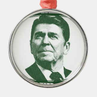 Ronald Reagan One Nation Under God Metal Ornament