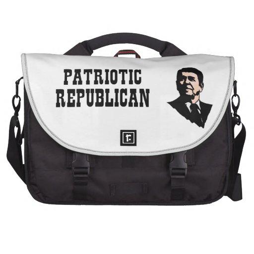 Ronald Reagan - Patriotic Republican Laptop Messenger Bag