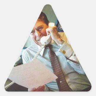 Ronald Reagan Pegatina De Triangulo Personalizadas