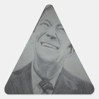 Ronald Reagan Pegatinas De Trianguladas