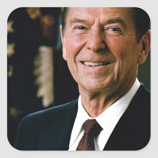 Ronald Reagan Pegatina Cuadrada